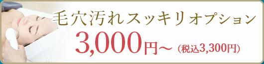 毛穴汚れスッキリオプション3000円〜(税込み3300円)